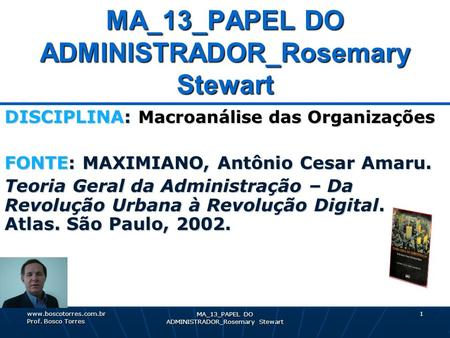 MA_13_PAPEL DO ADMINISTRADOR_Rosemary Stewart