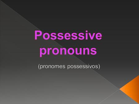 (pronomes possessivos)