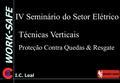 fd060bdb2429e WORK-SAFE I.C. Leal IV Seminário do Setor Elétrico Técnicas Verticais Proteção  Contra Quedas
