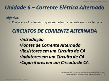 Circuito Corrente Alternada : Analise de circuitos em corrente alternada ed erica ppt video
