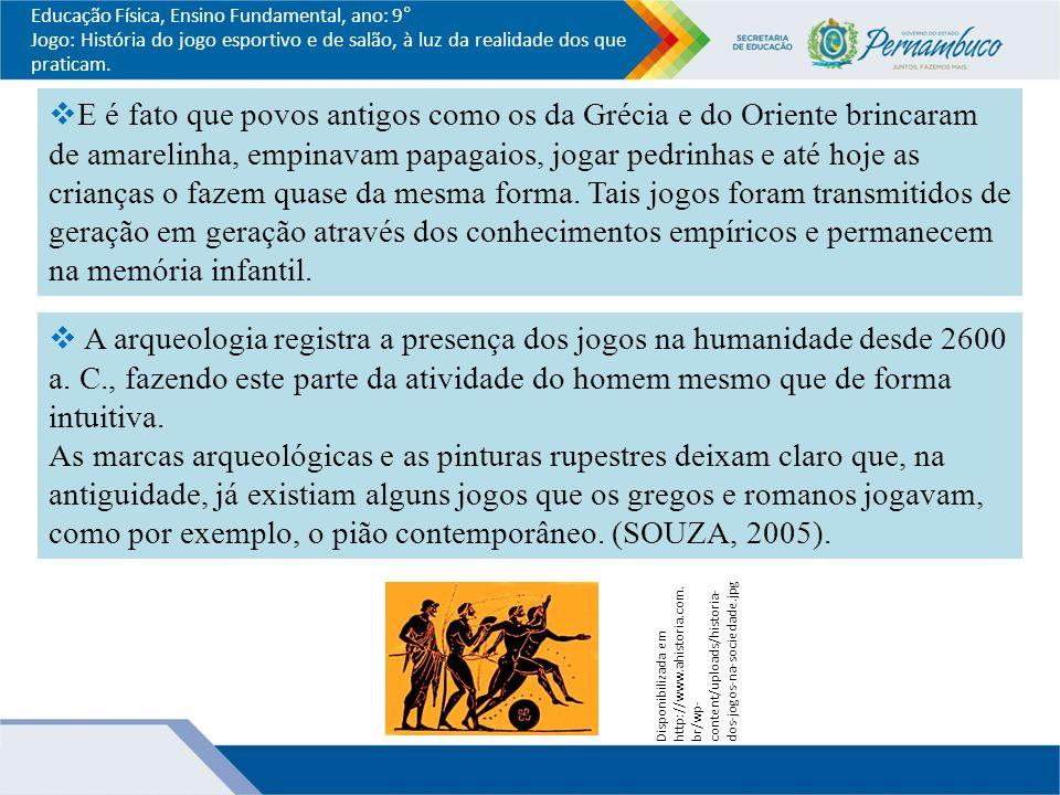 HISTÓRIA DO JOGO ESPORTIVO E DE SALÃO. 8 Educação Física ... d37c5363a3097