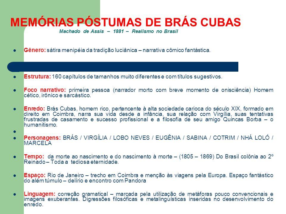 Tag Memórias Póstumas De Brás Cubas Trecho