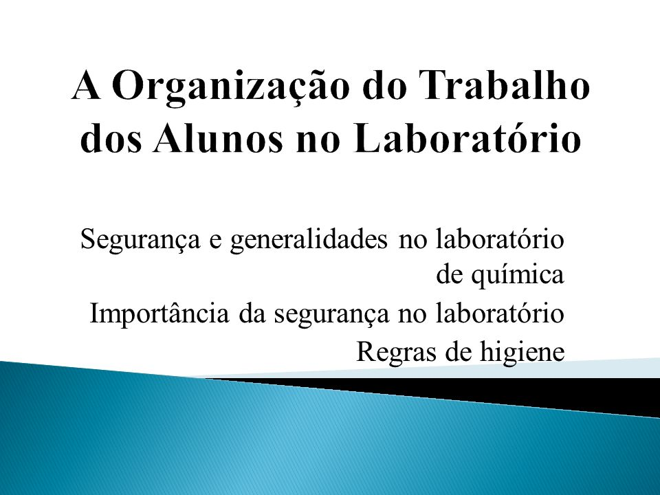 aa35da68bf2f3 A Organização do Trabalho dos Alunos no Laboratório - ppt carregar