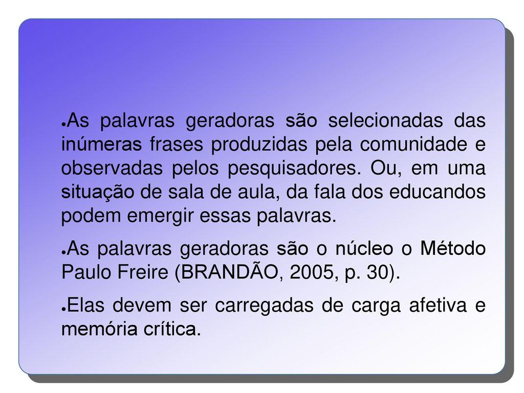 Método Paulo Freire Ppt Carregar
