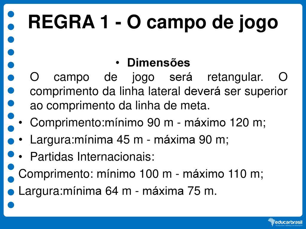 c359e263f76b8 PRINCIPAIS REGRAS DO FUTEBOL DE CAMPO - ppt video online carregar