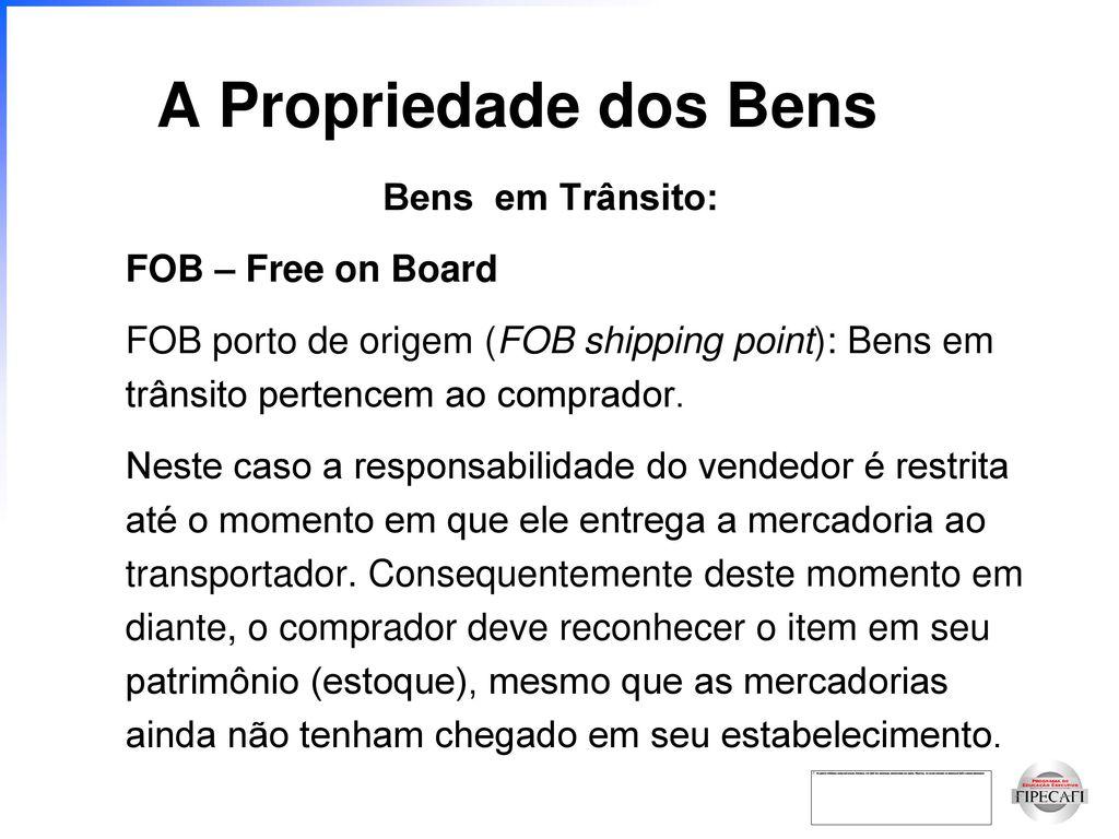 Transferencia de propiedade dos bens ao comprador