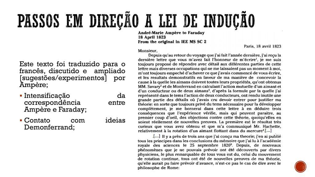 d38dc9bfef0 História da Lei de Faraday - ppt carregar