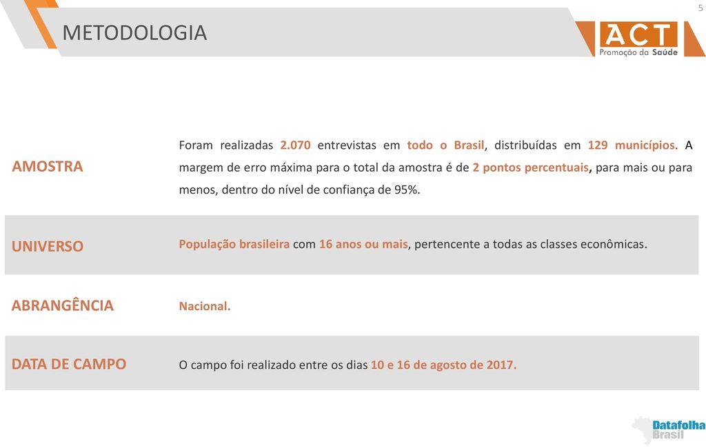 OPINIÃO DA POPULAÇÃO BRASILEIRA SOBRE TEMAS RELATIVOS A ALIMENTOS ... 79586400386e2