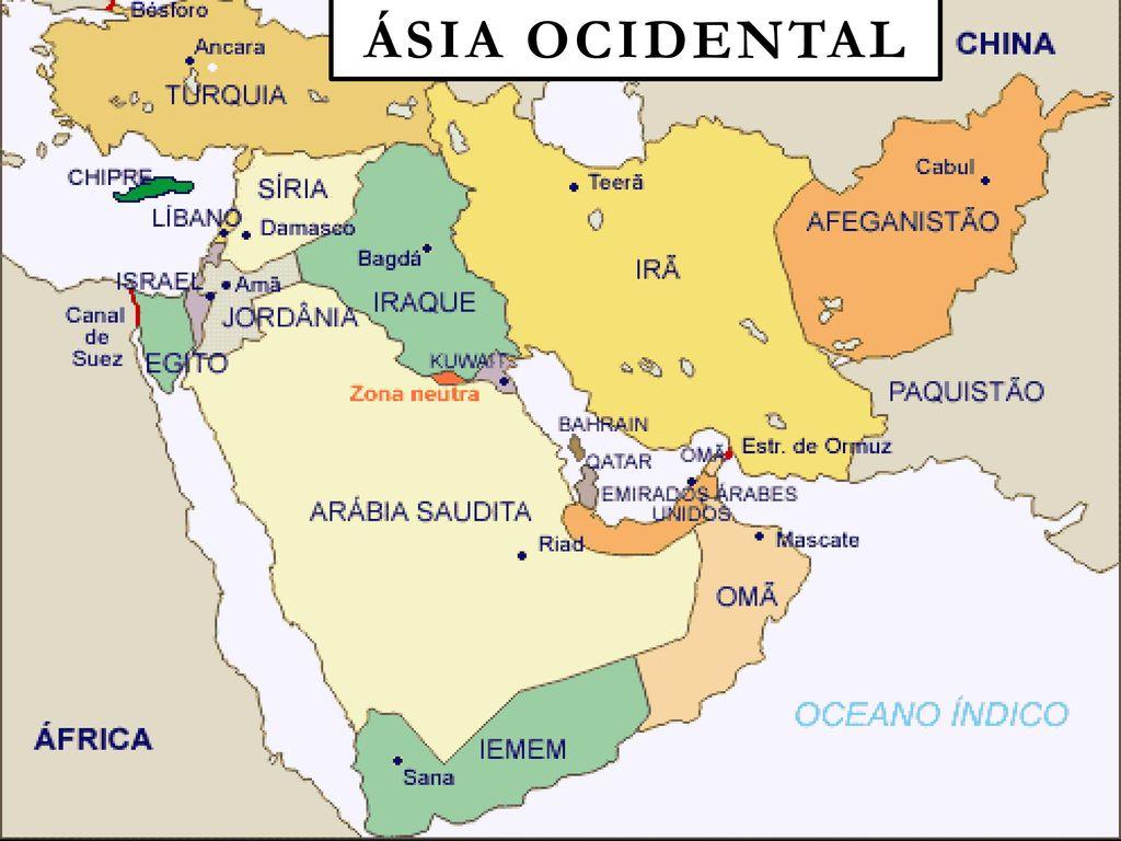 mapa da asia ocidental ÁSIA Ocidental E MONÇÔNICA   ppt carregar mapa da asia ocidental