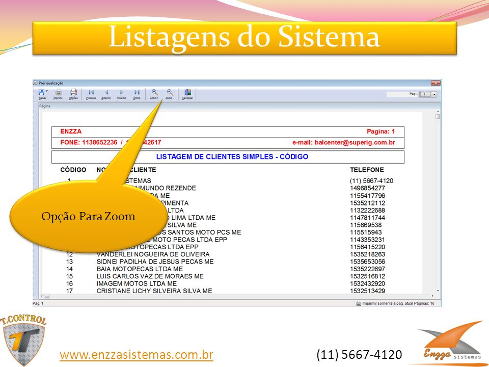 Listagens do Sistema   (11)