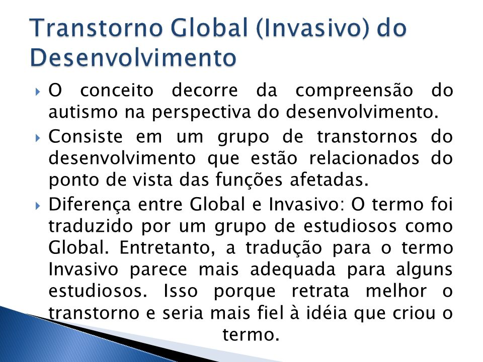 Transtorno Global (Invasivo) do Desenvolvimento