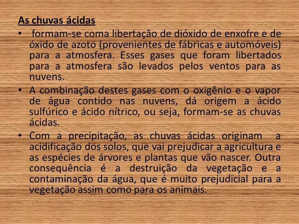 As chuvas ácidas