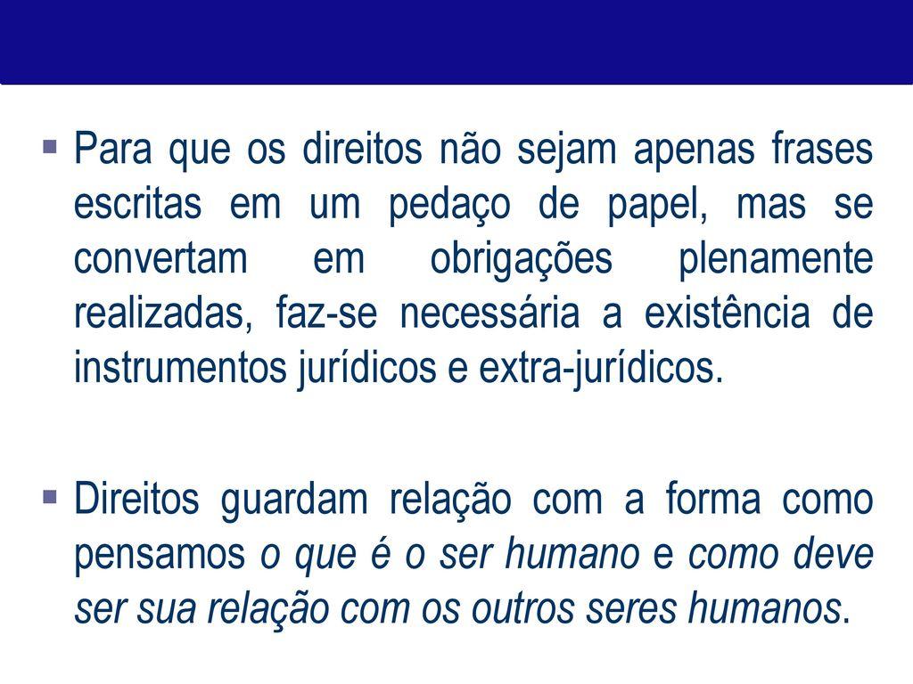 Direitos Humanos Conceitos História E Desafios Ppt Carregar