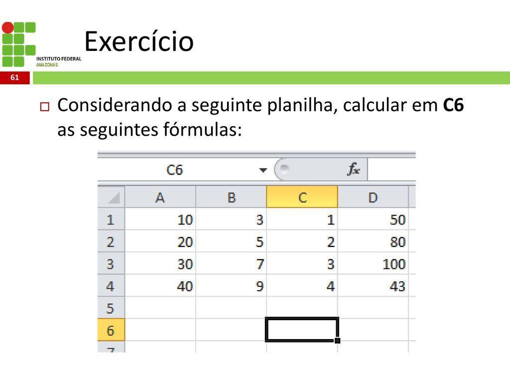 Excel Avançado Fórmulas e Funções   ppt carregar
