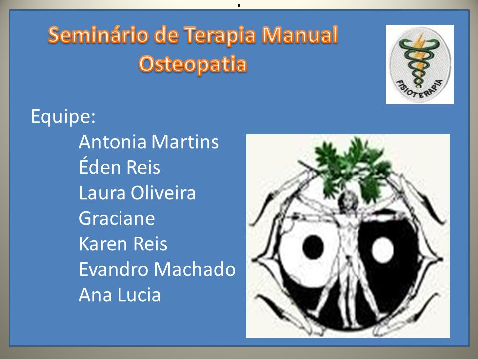 Seminário de Terapia Manual