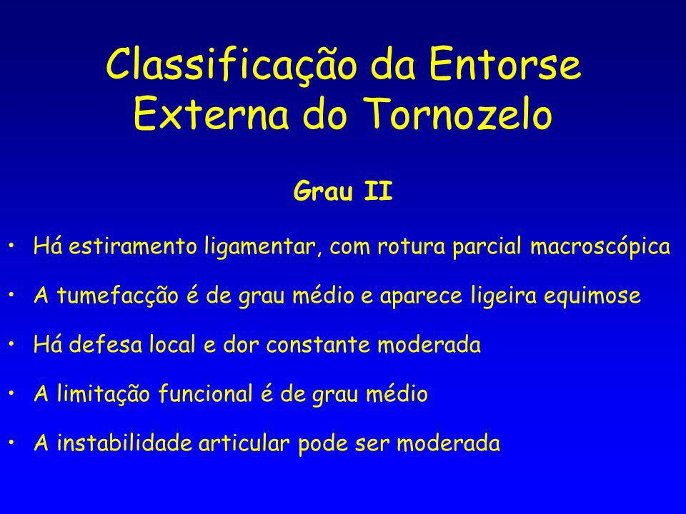 Classificação da Entorse Externa do Tornozelo
