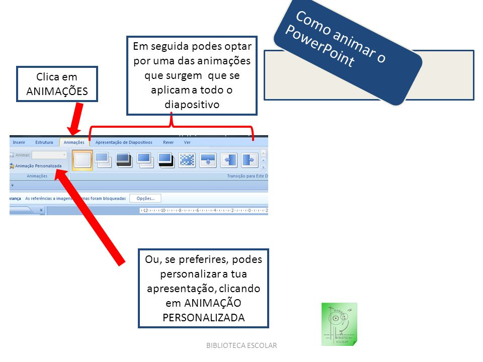 Como animar o PowerPoint