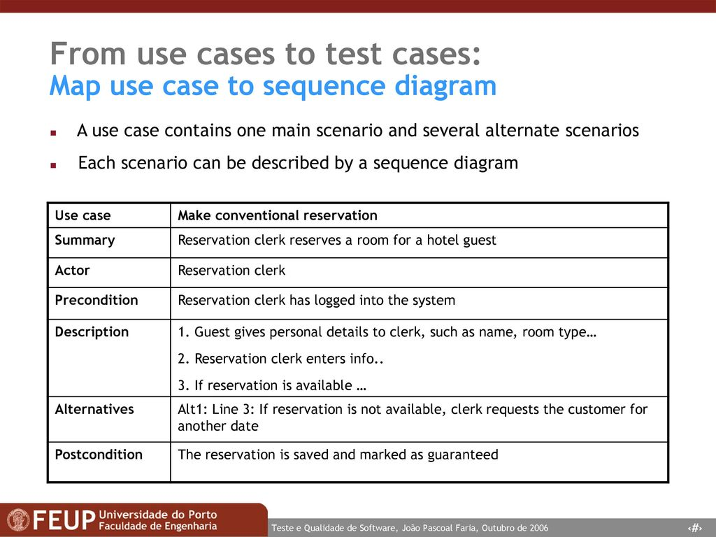 Tqs teste e qualidade de software software testing and quality from use cases to test cases map use case to sequence diagram ccuart Choice Image