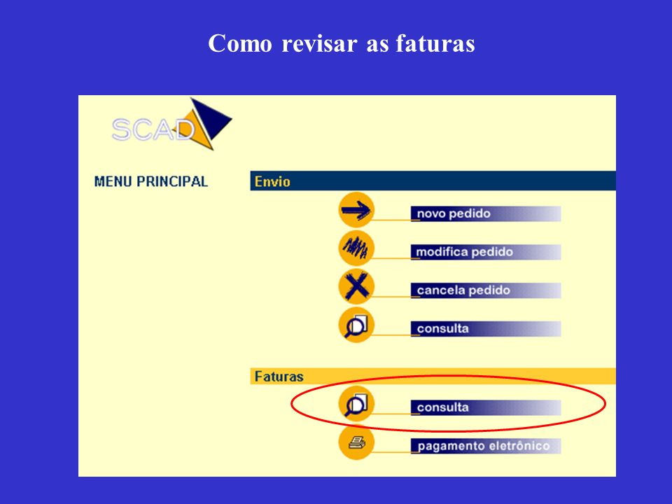 Como revisar as faturas