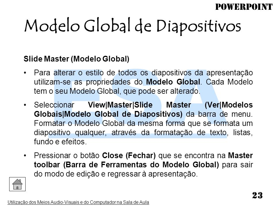 Modelo Global de Diapositivos