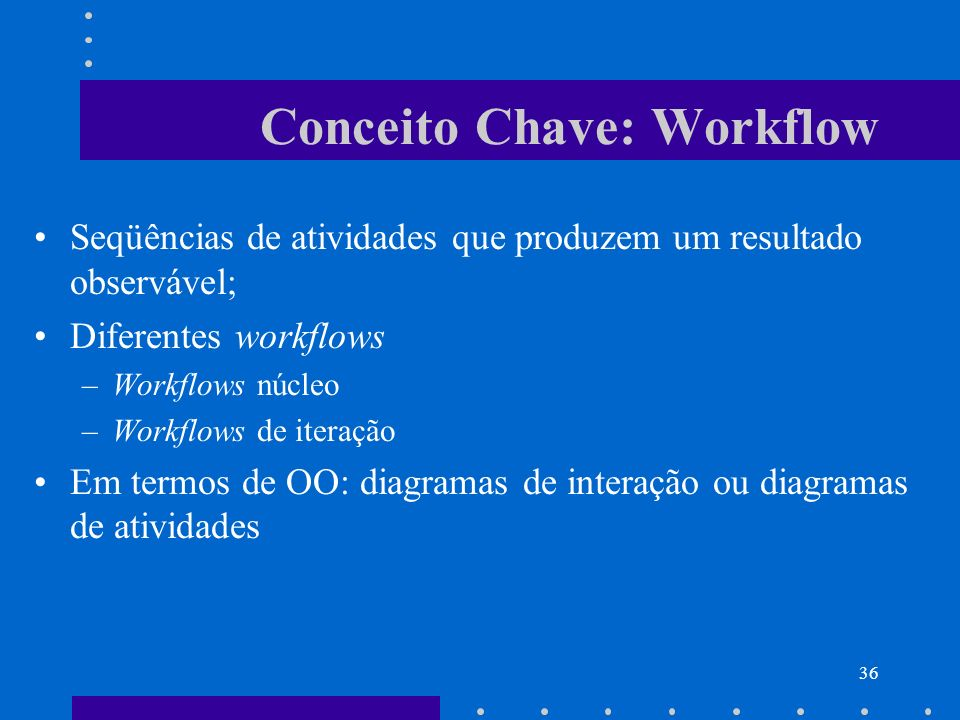 Conceito Chave: Workflow
