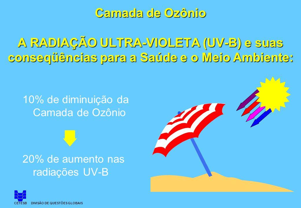 Camada de Ozônio A RADIAÇÃO ULTRA-VIOLETA (UV-B) e suas conseqüências 5588297bc0