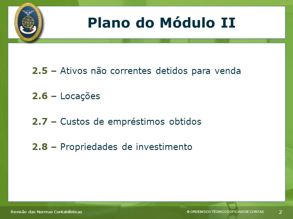 Plano do Módulo II