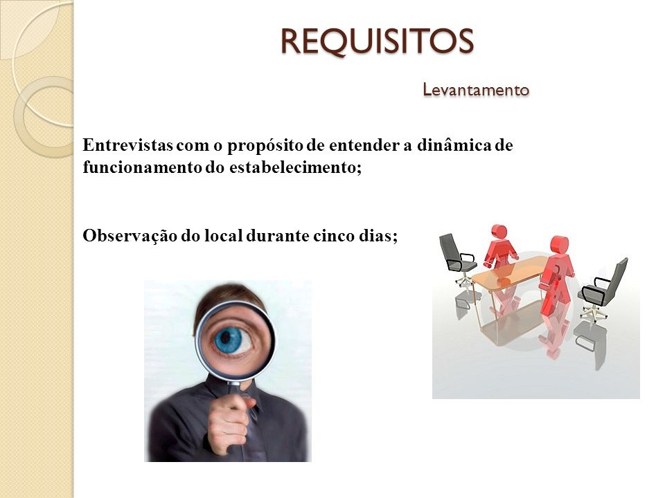 REQUISITOS Levantamento