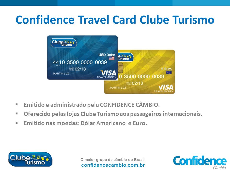 Confidence Travel Card Clube Turismo