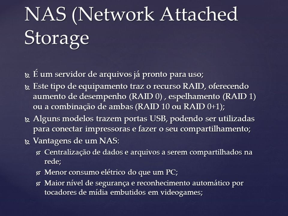 NAS (Network Attached Storage