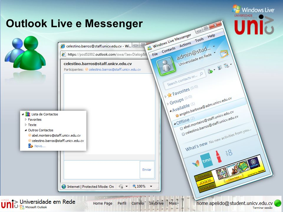 Outlook Live e Messenger