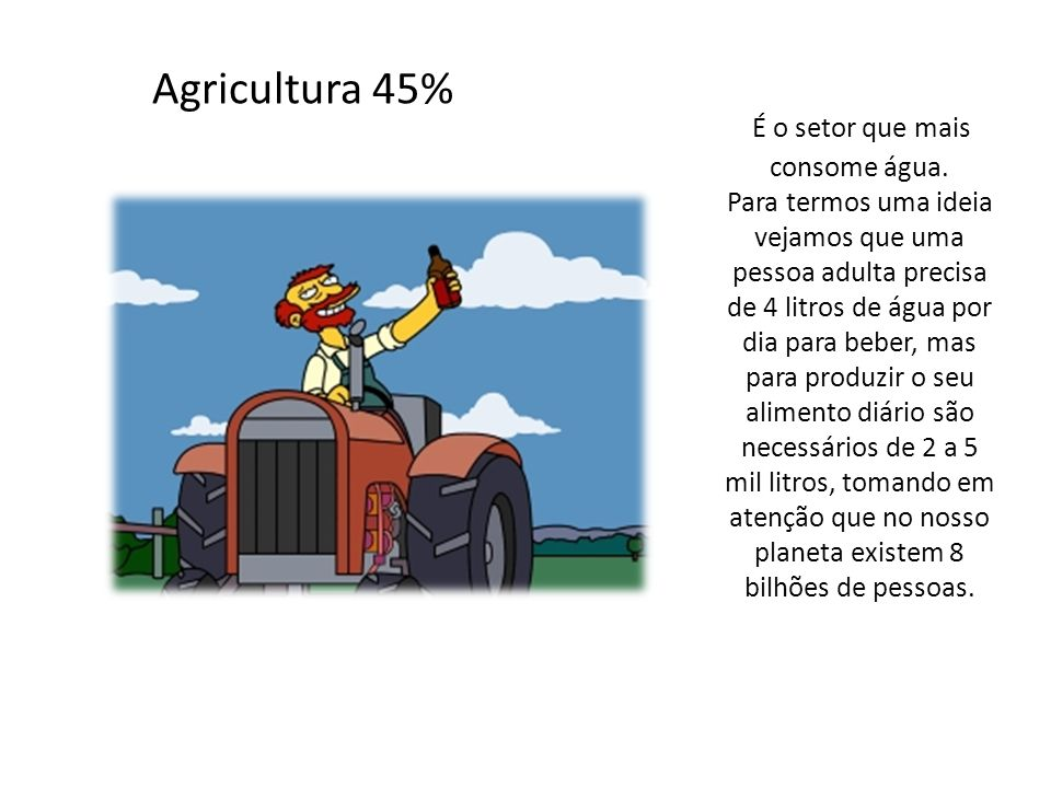 Agricultura 45%