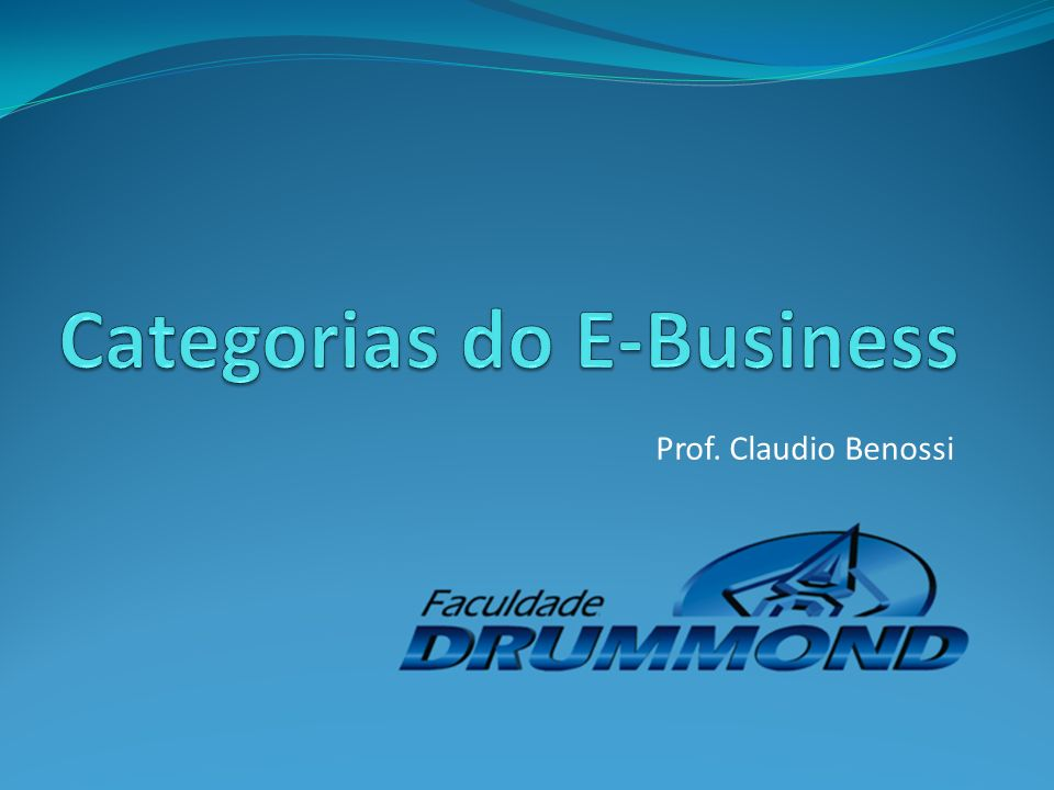 Categorias do E-Business