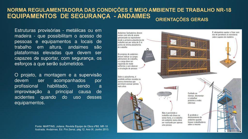NORMA REGULAMENTADORA DAS CONDIÇÕES E MEIO AMBIENTE DE TRABALHO NR-18  EQUIPAMENTOS DE SEGURANÇA - e0840c08a7