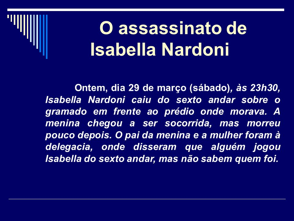 O assassinato de Isabella Nardoni