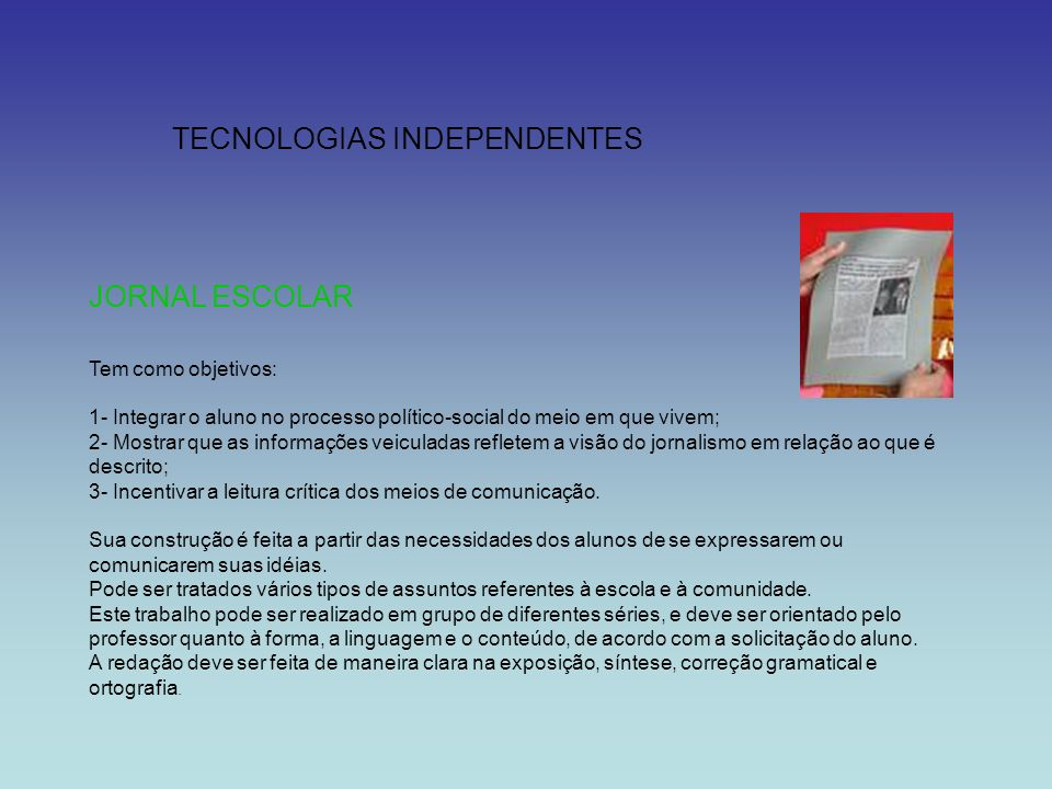 TECNOLOGIAS INDEPENDENTES