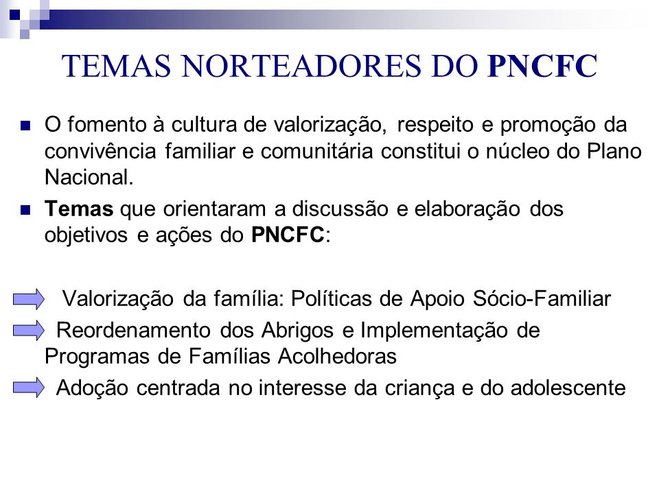 TEMAS NORTEADORES DO PNCFC