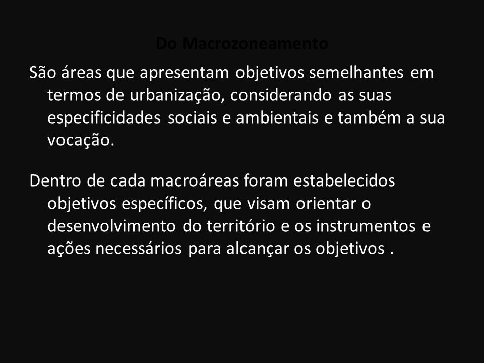 Do Macrozoneamento