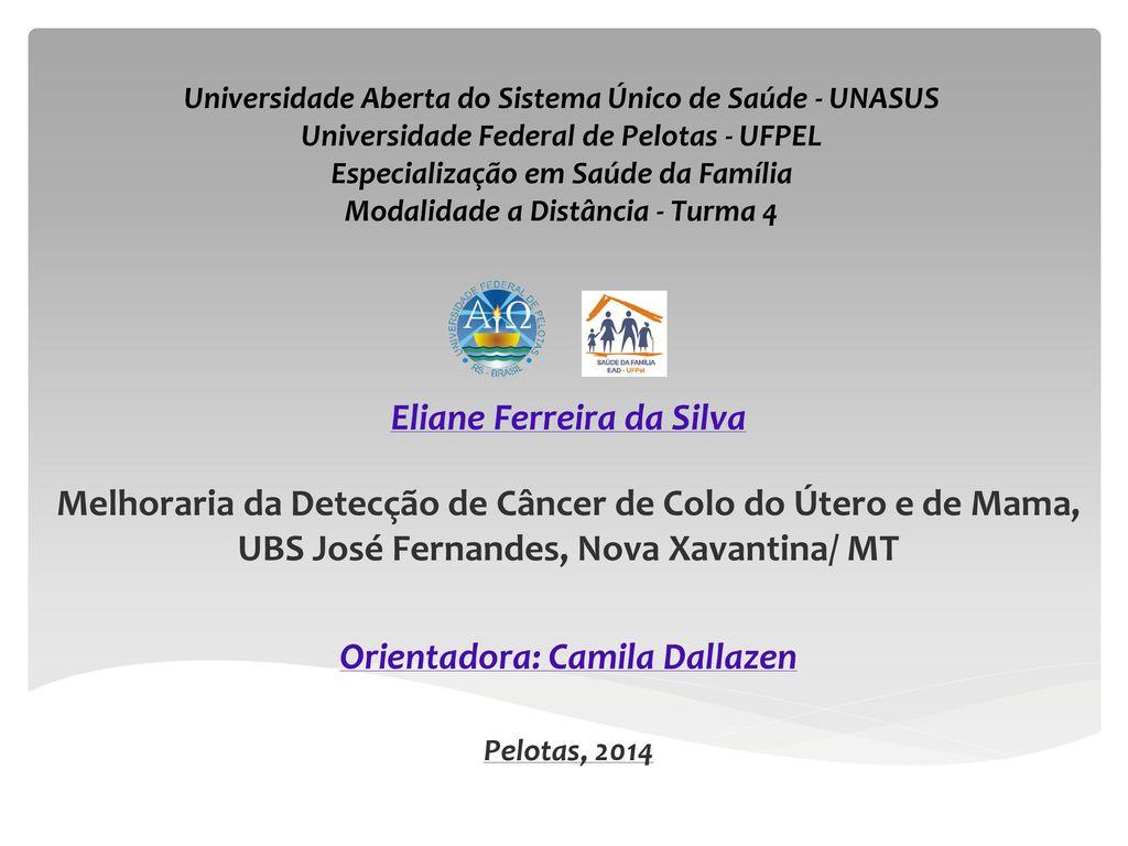 Eliane Ferreira da Silva Orientadora: Camila Dallazen - ppt