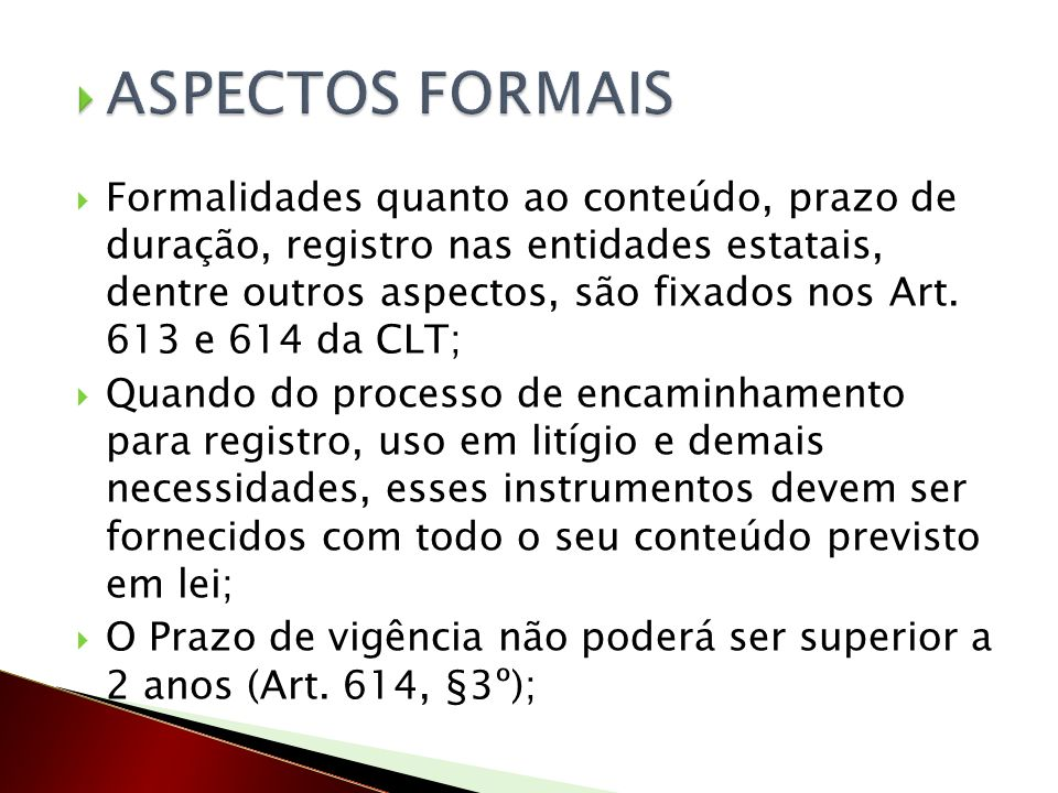 ASPECTOS FORMAIS
