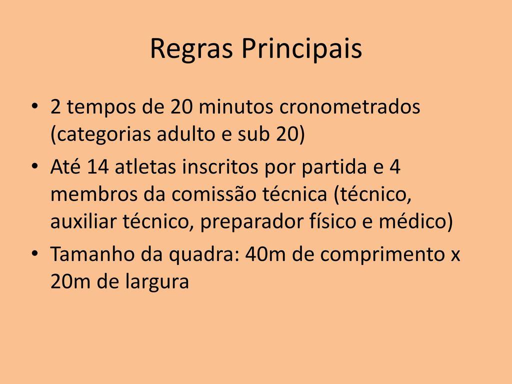 fc56559cd3 Futsal. 2 Regras Principais ...