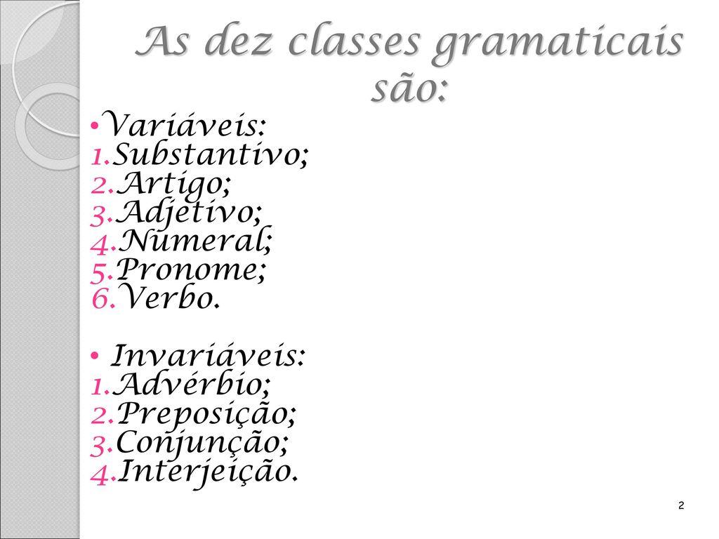 dfe2e3552 Classes Gramaticais das Palavras - ppt carregar