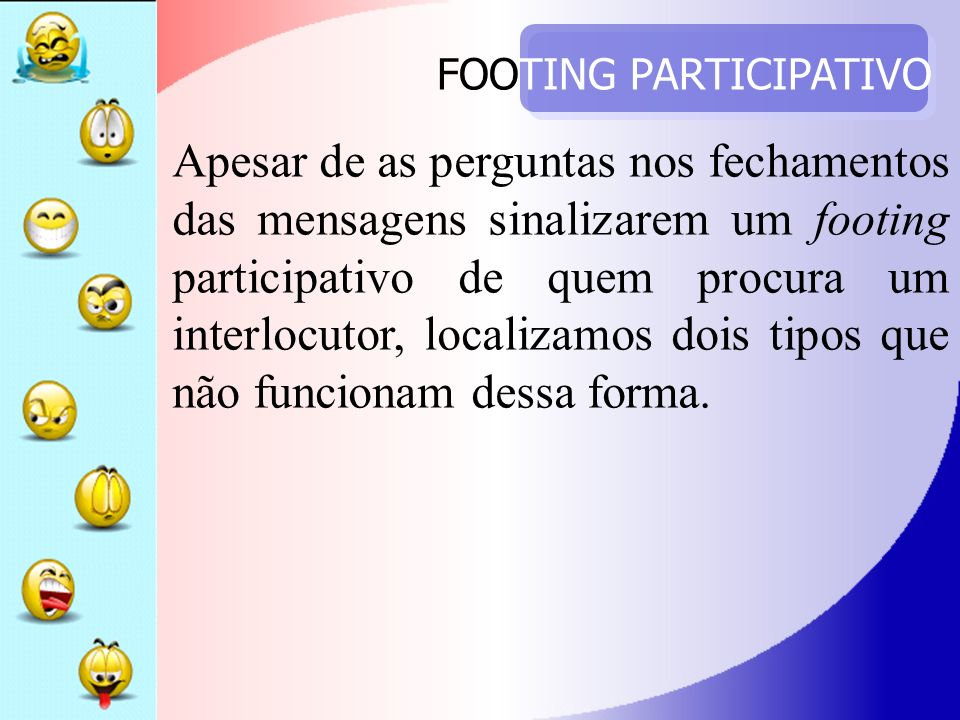 FOOTING PARTICIPATIVO