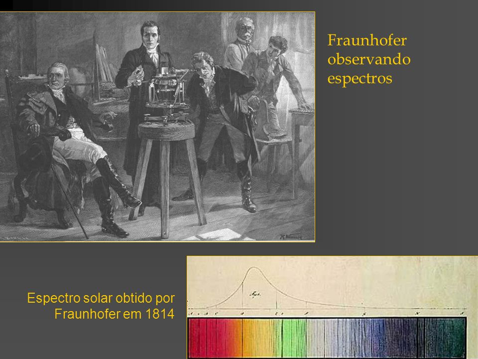 Fraunhofer observando espectros