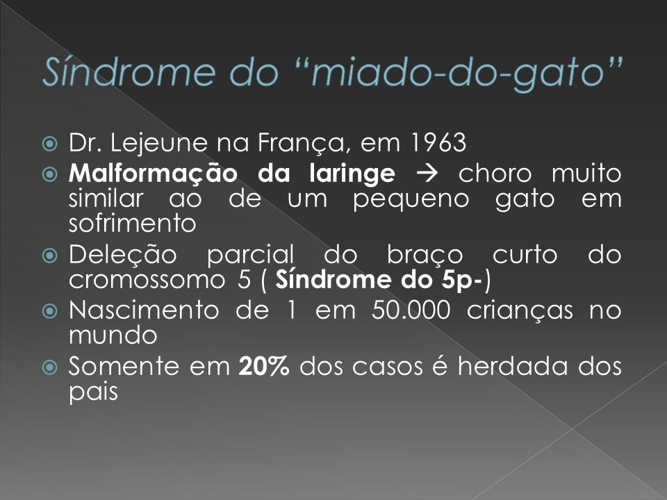 Síndrome do miado-do-gato