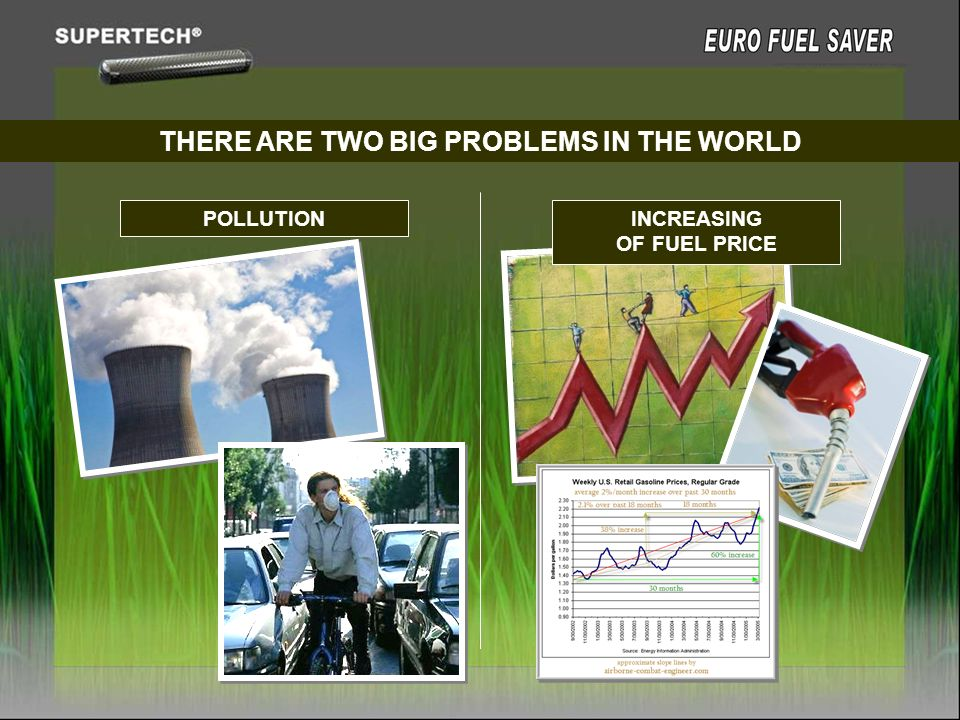 THERE ARE TWO BIG PROBLEMS IN THE WORLD INCREASING OF FUEL PRICE