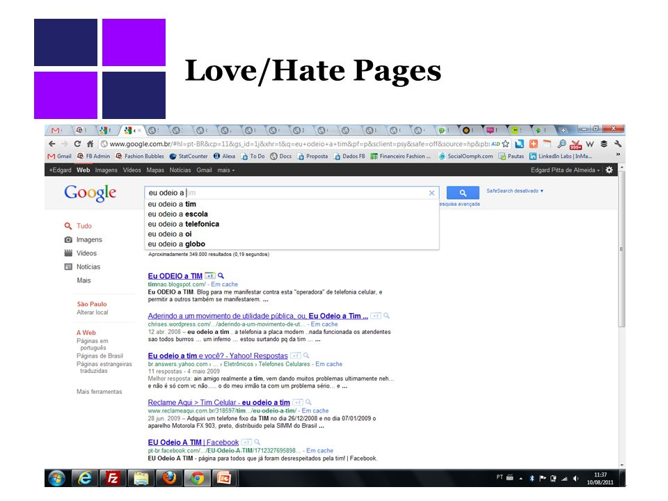 Love/Hate Pages