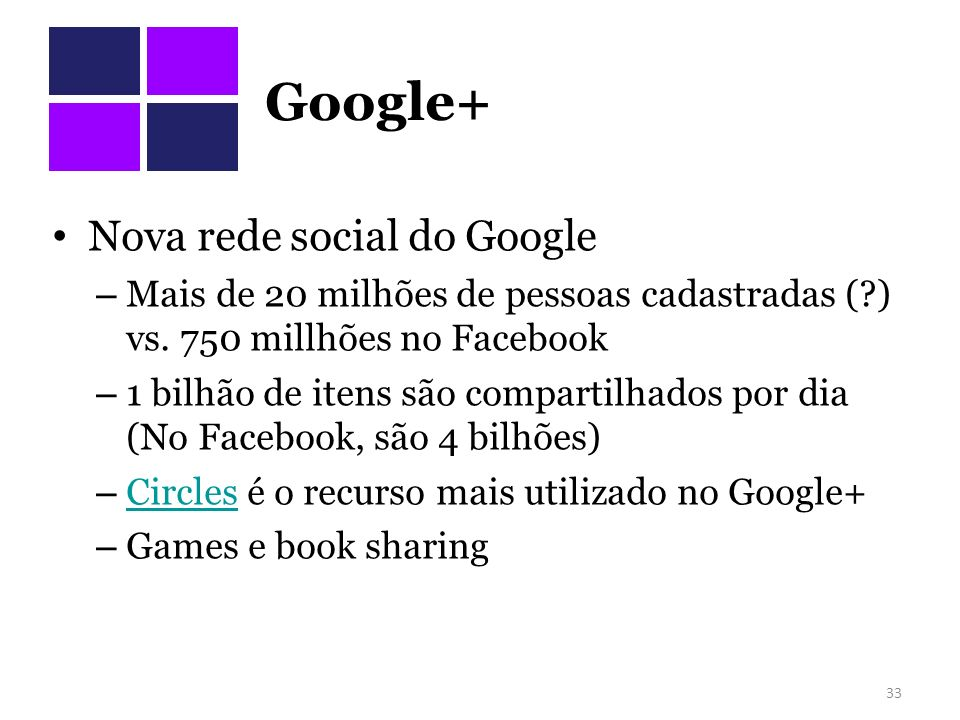 Google+ Nova rede social do Google