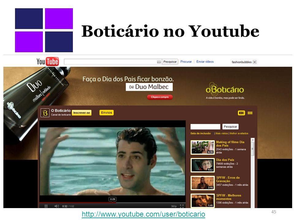 Boticário no Youtube
