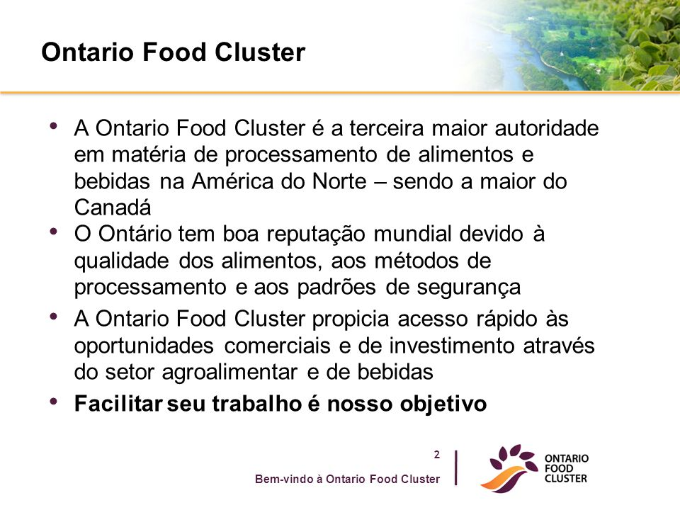 Ontario Food Cluster